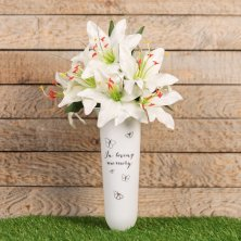 In Loving Memory Thoughts of You Graveside Vase