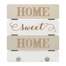 Home Sweet Home Love Life Wall Plaque with Hooks