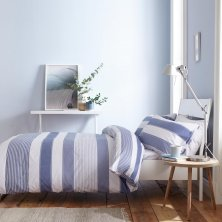 Newquay Blue Stripe Catherine Lansfield Duvet Set