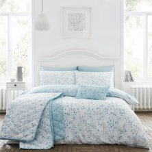 Hip Sprig Duck Egg Duvet Set