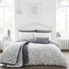 Hip Sprig Grey Duvet Set