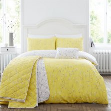 Hip Sprig Honey Duvet Set