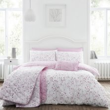 Hip Sprig Mauve Duvet Set