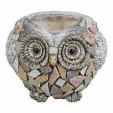 Country Living Mosaic Polystone Owl Planter
