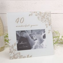 Amore 40th Anniversary Photo Frame 40 Wonderful Years