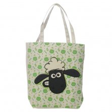 Shaun the Sheep Cotton Bag with Zip and Lining - Pattern