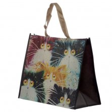 Kim Haskins Cat Design Shopping Bag