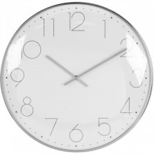 Hometime Round Wall Clock Chrome Plated - Silver