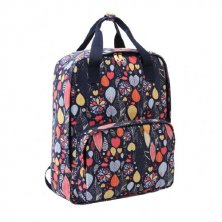 Jazzi Canvas Summer Leaf Navy Backpack