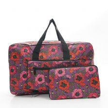 Eco Chic Lightweight Foldable Holdall Poppies Purple