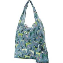 Eco Chic Lightweight Foldaway Shopper Unicorn