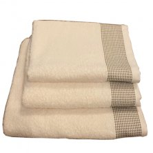 Monaco Cream & Latte Towels