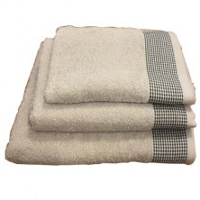 Monaco Grey & Silver Towels