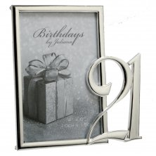 21st Silver Plated Photo Frame
