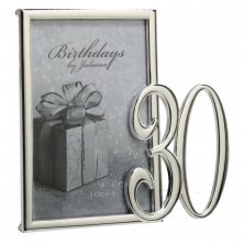 30th Silver Plated Photo Frame