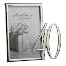 40th Silver Plated Photo Frame