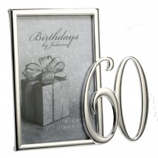 60th Silver Plated Photo Frame
