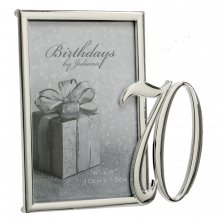 70th Silver Plated Photo Frame