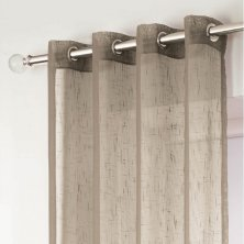 Latte Boston Eyelet Voile Panels