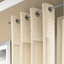 Champagne Madeira Eyelet Voile Panel
