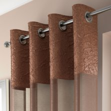 Copper Madeira Eyelet Voile Panel