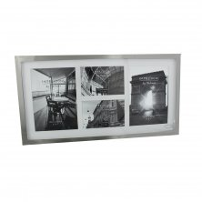 Impressions Large Plain Silver Plated Photo Frame 4 Apertures