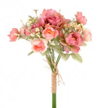 Coral Flora Artificial Flower Bundle