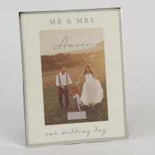 "Amore Silverplated Photo Frame ""Our Wedding Day"""