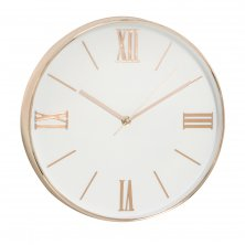 Hometime Silent Sweep Copper Round Wall Clock