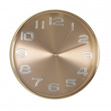 Hometime Silent Sweep Gold Round Wall Clock
