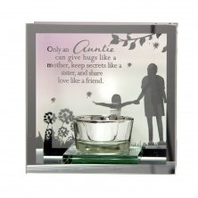 Auntie Reflections of the Heart Tea Light Holder