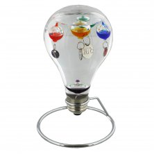 Galileo Lightbulb Thermometer on Stand