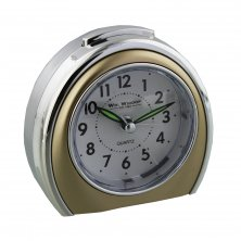 Gold Coloured Arched Shaped Widdop Alarm Clock