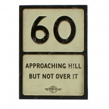 60th Birthday MPH Road Sign Plaque