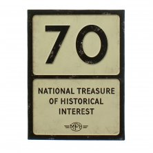 70th Birthday MPH Road Sign Plaque