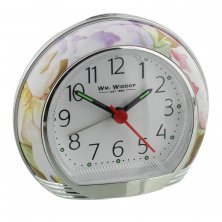 Widdop Flower Design Alarm Clock with Crescendo Alarm