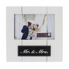 New View Distressed Molding Photo Frame - Mr & Mrs