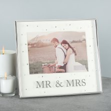 Amore Silver Plated Mr & Mrs Photo Frame