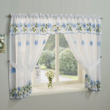 Daisy Blue Window Set