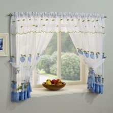 Blue Gingham Window Set