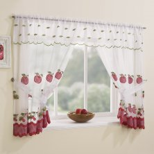 Red Gingham Window Set