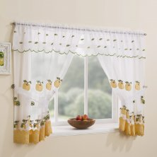 Yellow Gingham Window Set