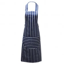 Navy Butchers Stripe Apron