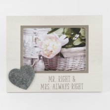 New View 'Mr Right & Mrs Always Right' Photo Frame