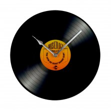 Musicology Glass Wall Clock - Record
