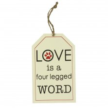 B-O-B Hanging Wall Plaque - Love Is A Four Legged Word
