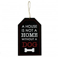 B-O-B Hanging Wall Plaque - A House is Not A Home...