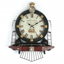 Hometime Metal Wall Clock - Steam Train