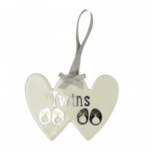 Wendy Jones Blackett Ceramic Plaque - Twins