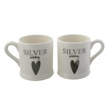 Wendy Jones Blackett Mug Gift Set - Silver